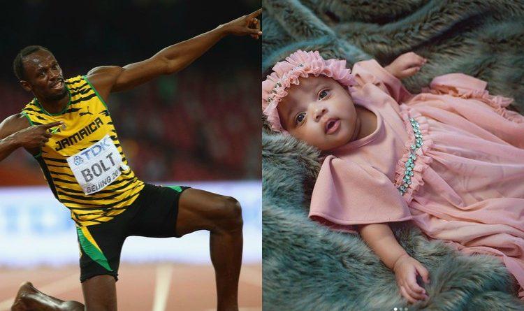 Ako sawa na malaika! Usain Bolt shares cute pics of daughter, reveals her unique name